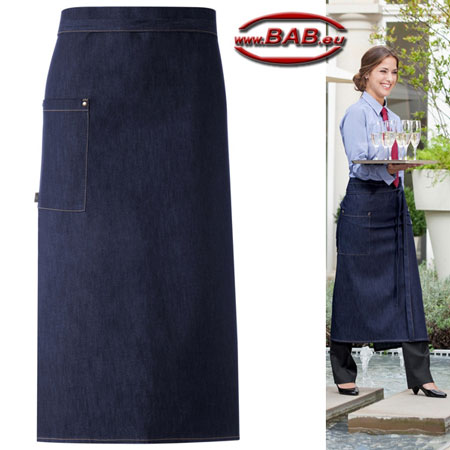 Greiff 41261 Bistro Schürze, Vorbinder blue denim Stretch 100x80