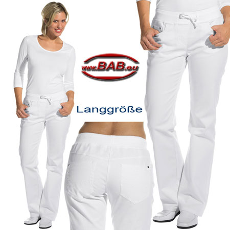 L-08-6831 Damenhose in Five-Pocket-Form aus Stretchgewebe