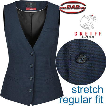 Greiff 1703 Premium Damen Weste mit Stoffrücken, Regular fit