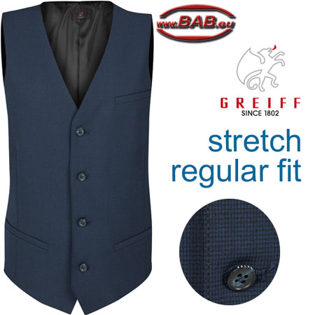 Greiff Premium 1611 Herren Weste in Regular Fit 4-Knopf