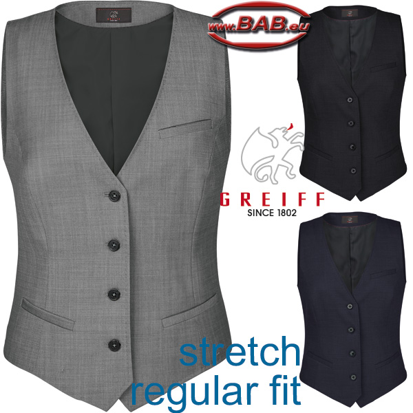 Greiff 1714 Damen-Weste in Regular Fit mit Stretchanteil