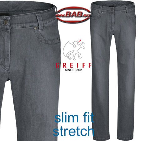 Greiff 1375 Casual Damenjeans mit normaler Leibhöhe
