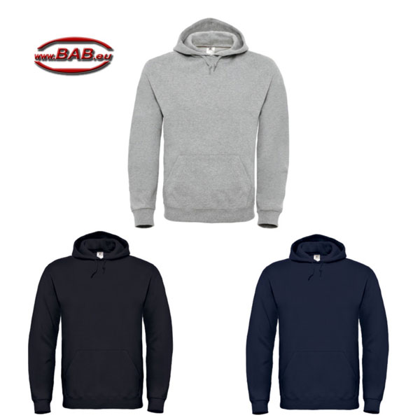 Kapuzen Sweatshirt in black, heather grey, navy bis Grösse 5XL