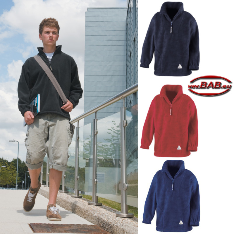 Lässiger Fleece Pullover für Teens in black, navy, red, royal