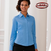 Russel Z-924F Damen-Bluse  corporate blue Gr.4XL